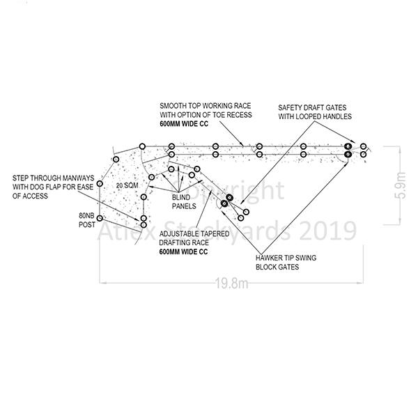 Sample Sheepyard Designs - Atlex Stockyards